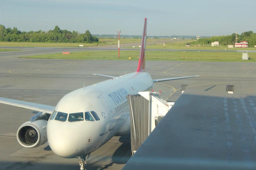 А320 Турецких авиалиний в аэропорту Уфа