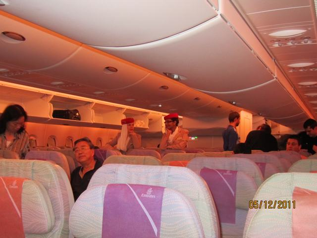 Onboard Airbus A380 Emirates