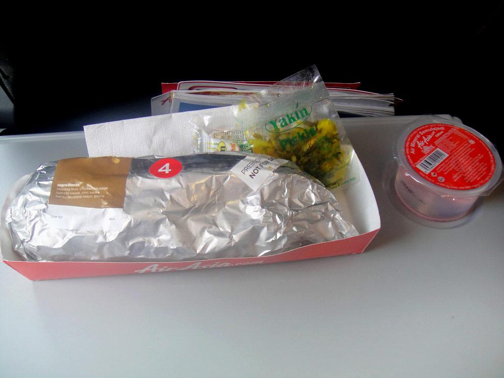 Hotdog on AirAsia flight