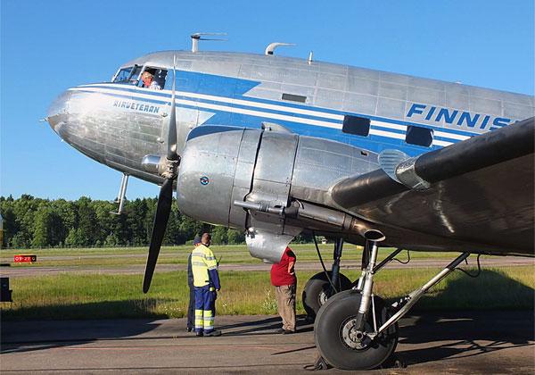 Хельсинки/Malmi (HEM/EFHF) - Лапперанта (LPP/EFLP) и обратно на DC-3