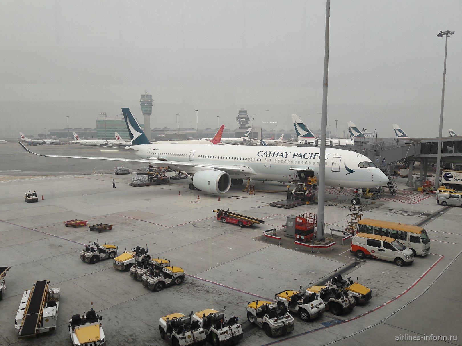 В Сингапур на крыльях Airbus A350-900 Cathay Pacific
