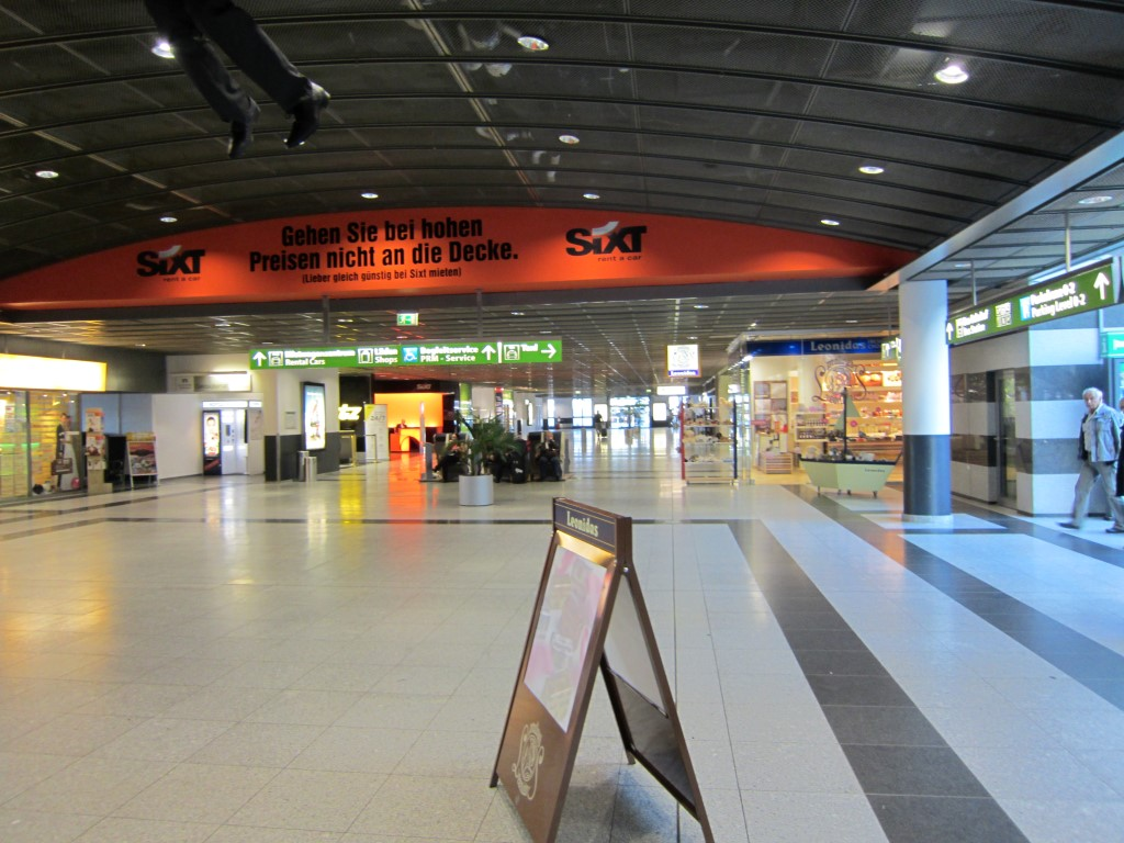 Зона прилета в аэропорту Дортмунд