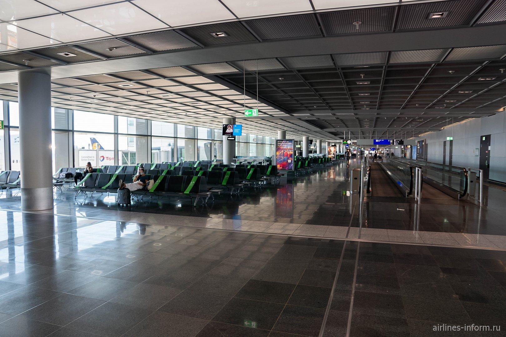 Новая посадочная галерея в терминале 1 аэропорта Франкфурт