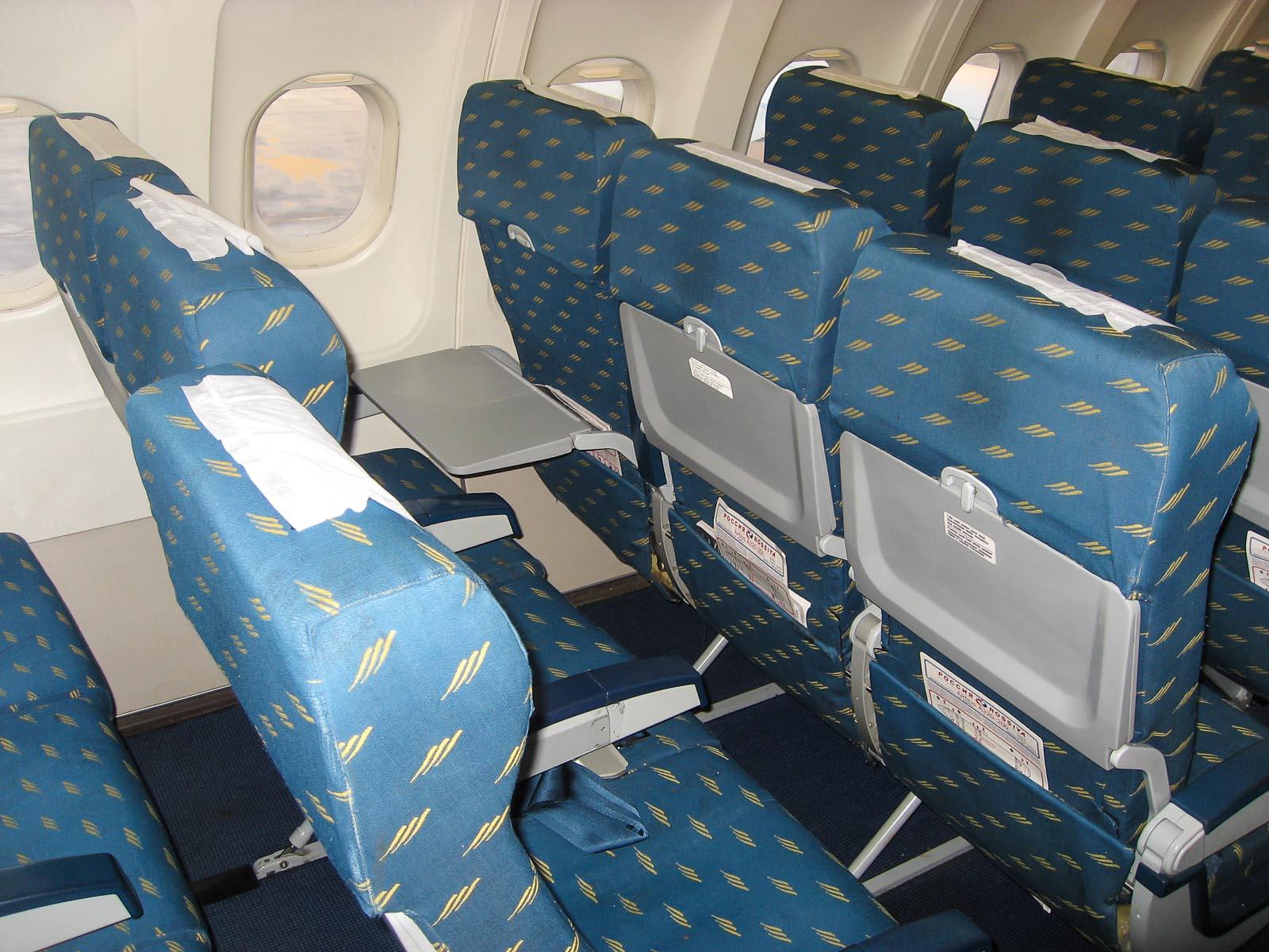 Экономический класс в самолете Airbus A320 авиакомпании Россия