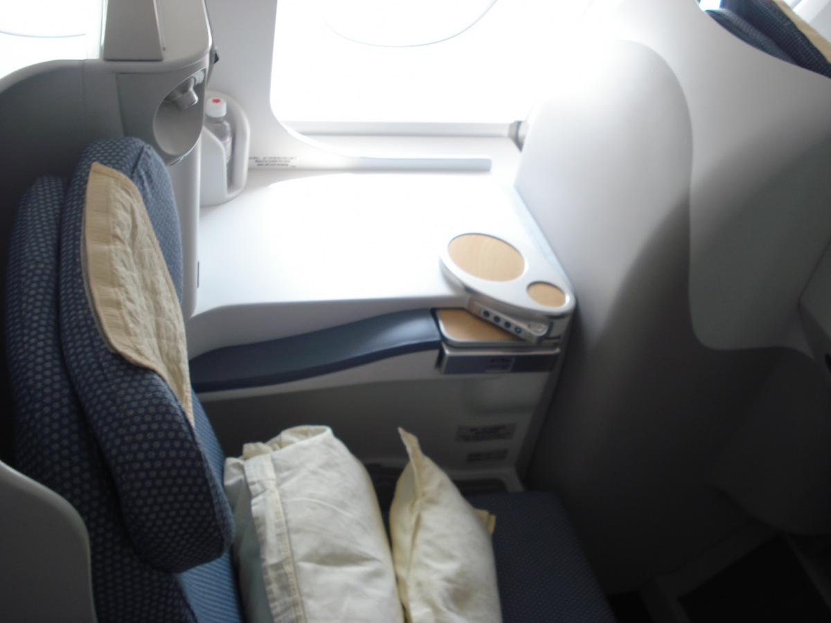Business class cabin of Airbus A380 China Southern Airlines