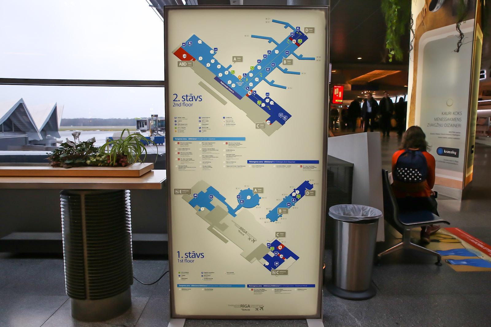 Схема аэропорта Рига