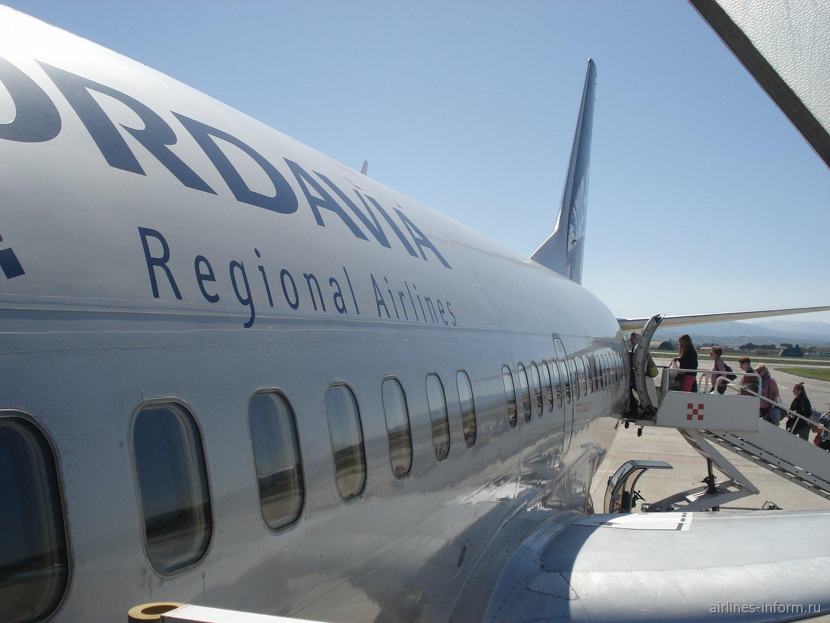 Европейские широты. Часть 6. Из Римини (RMI) в Москву (DME) с Nordavia на Boeing 737-500.
