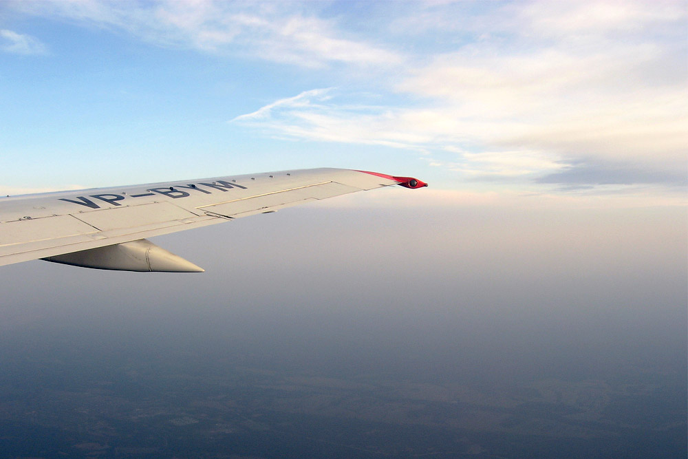 Flight from Moscow to Krasnoyarsk