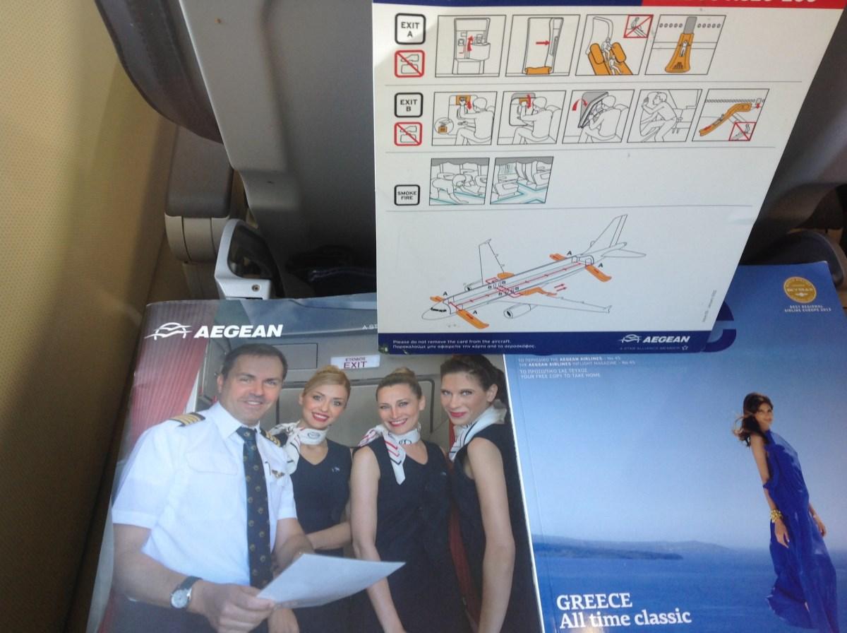 Журналы для пассажиров Эгейских авиалиний