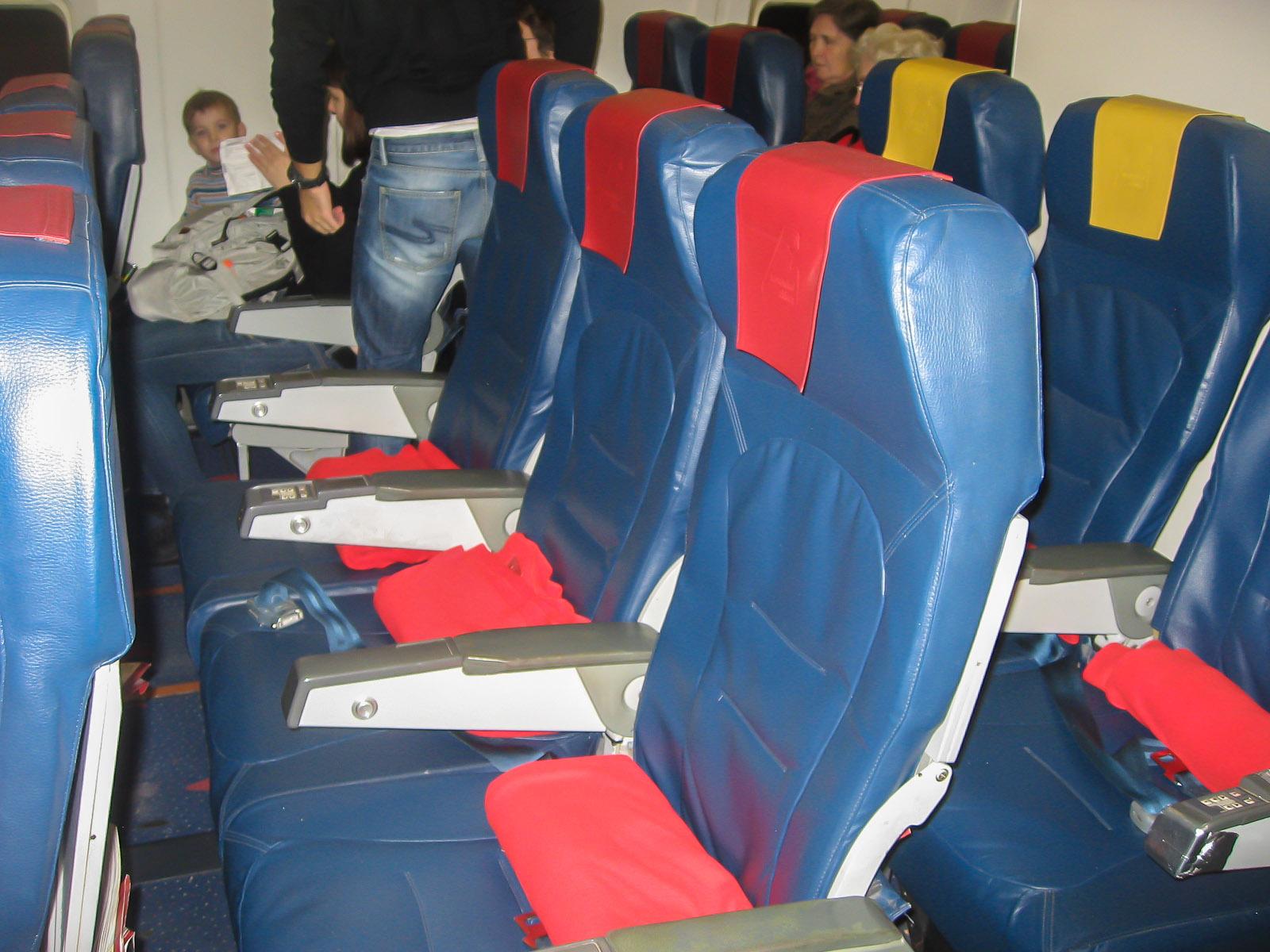 Кресла эконом-класса самолета Боинг-767-300 авиакомпании Nordwind