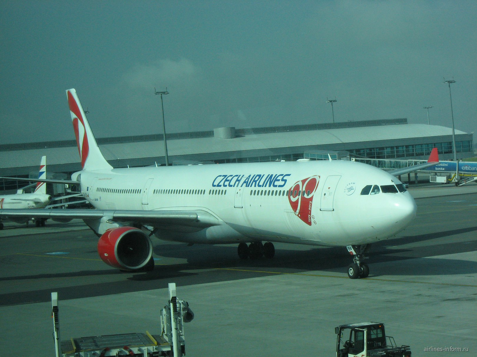 Airbus A330 Чешских авиалиний в аэропорту Праги