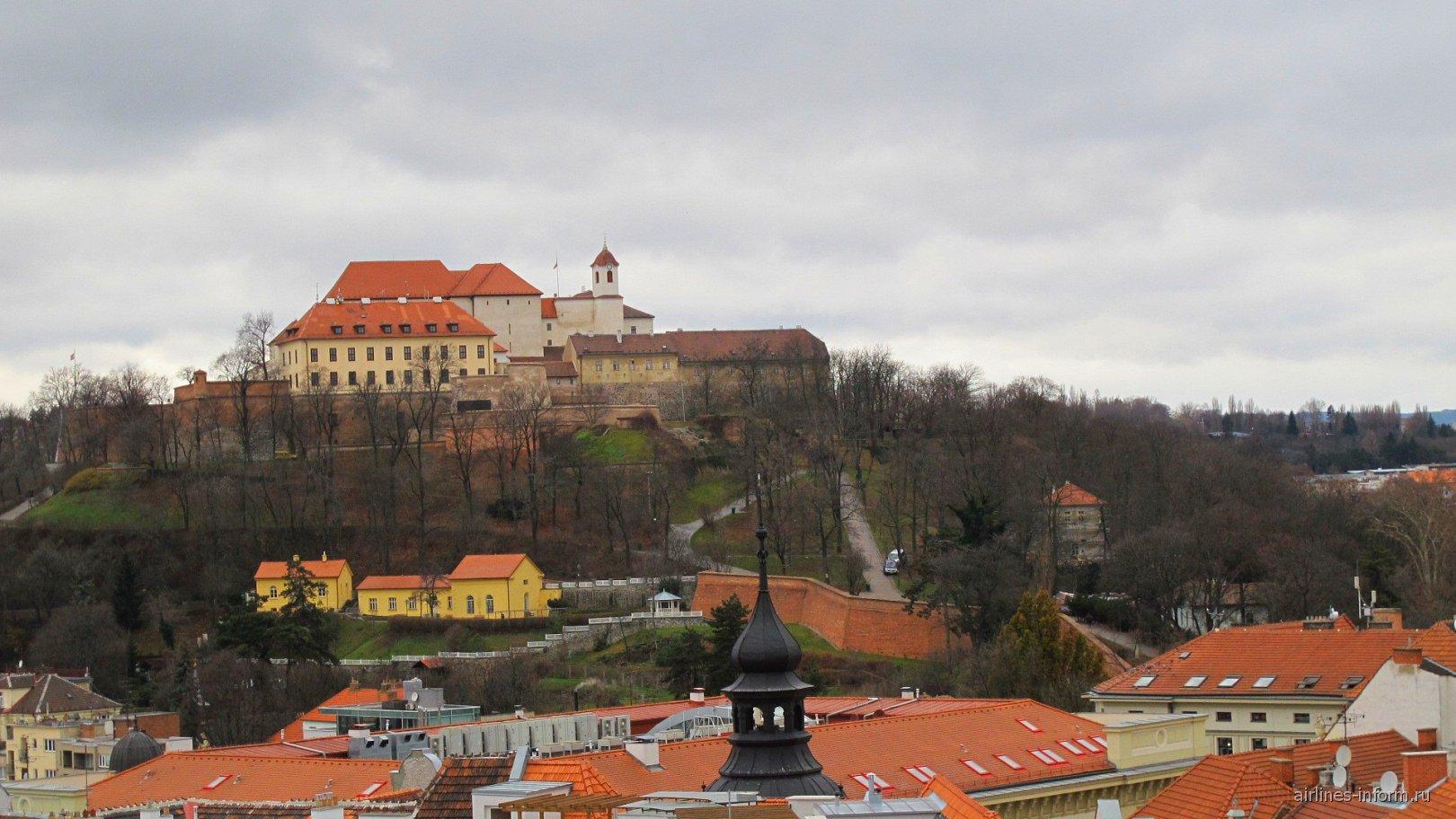 вид на замок Шпилберк