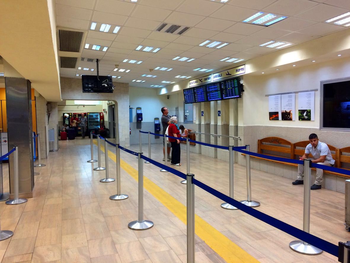 В аэровокзале аэропорта Эйлат