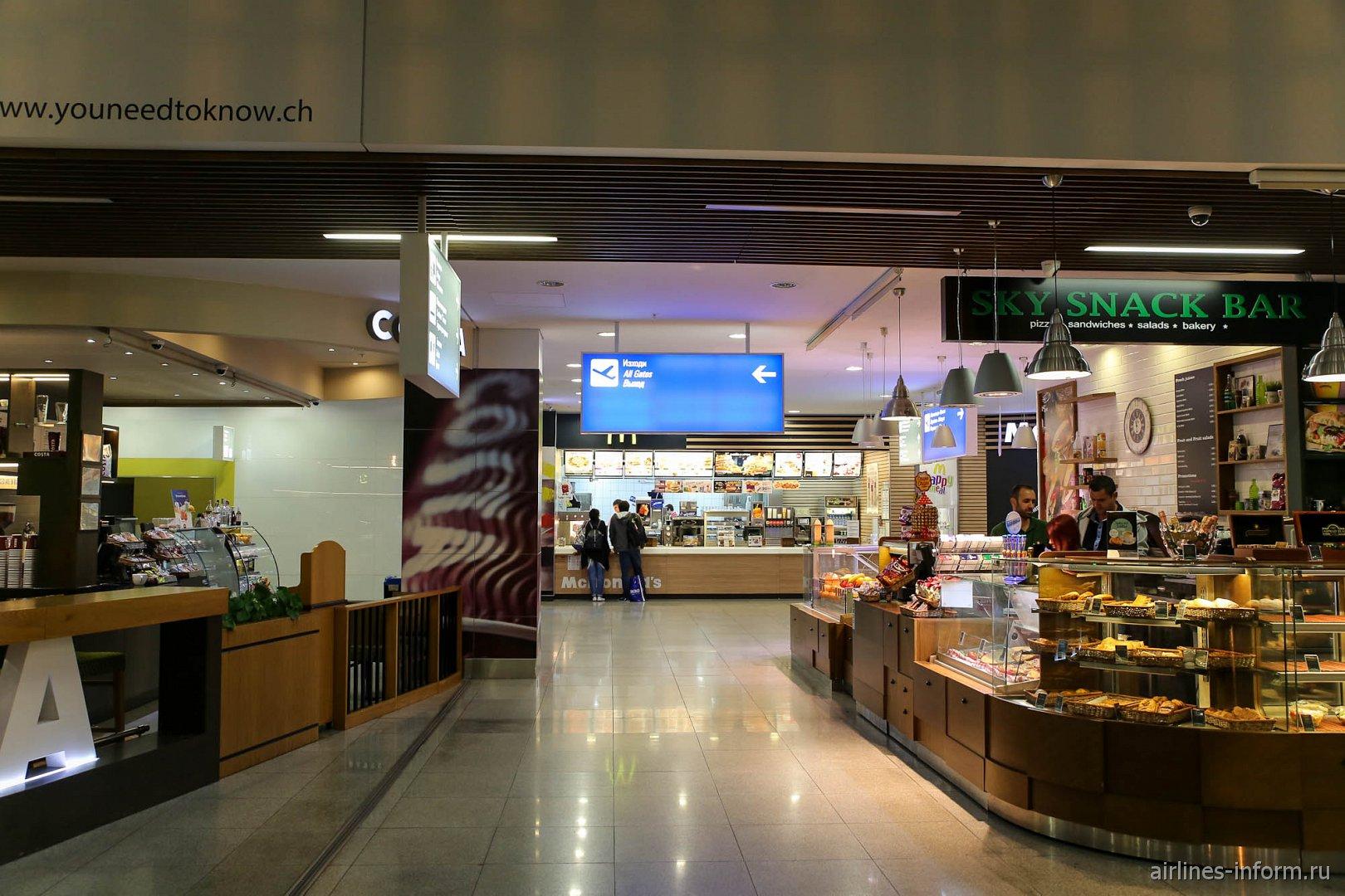 Кафе в чистой зоне аэропорта Варна