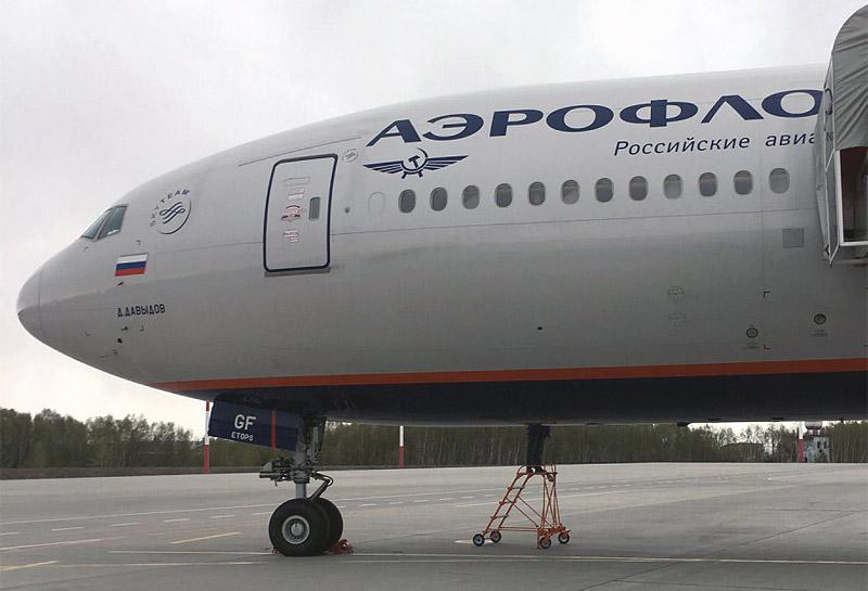 г.Петропавловск-Камчатский-г.Москва на Boeing 777-300ER авиакомпании Аэрофлот, бизнес класс.