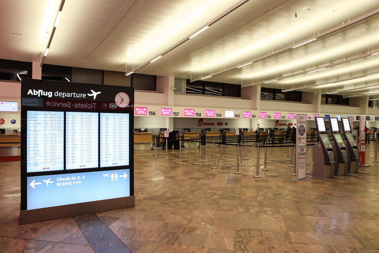 Зона регистрации Air Berlin в терминале 1 аэропорта Вена Швехат