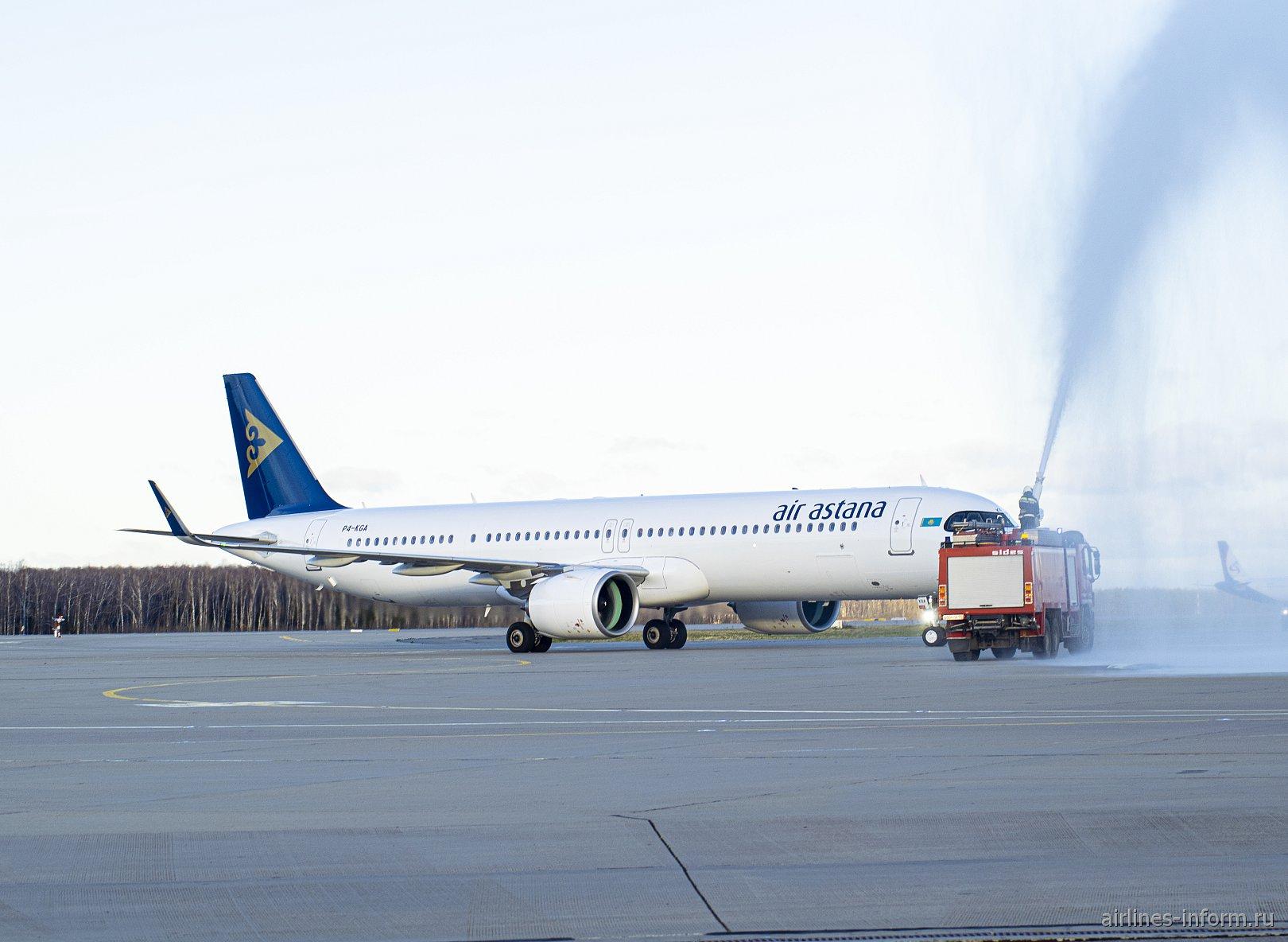 """""""In favor of DME"""". Обзор споттинга, посвященный первому прилету А321neo LR Air Astana в Домодедово."""
