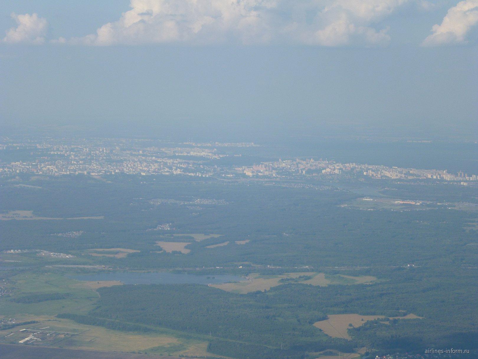 Вид на Уфу из самолета