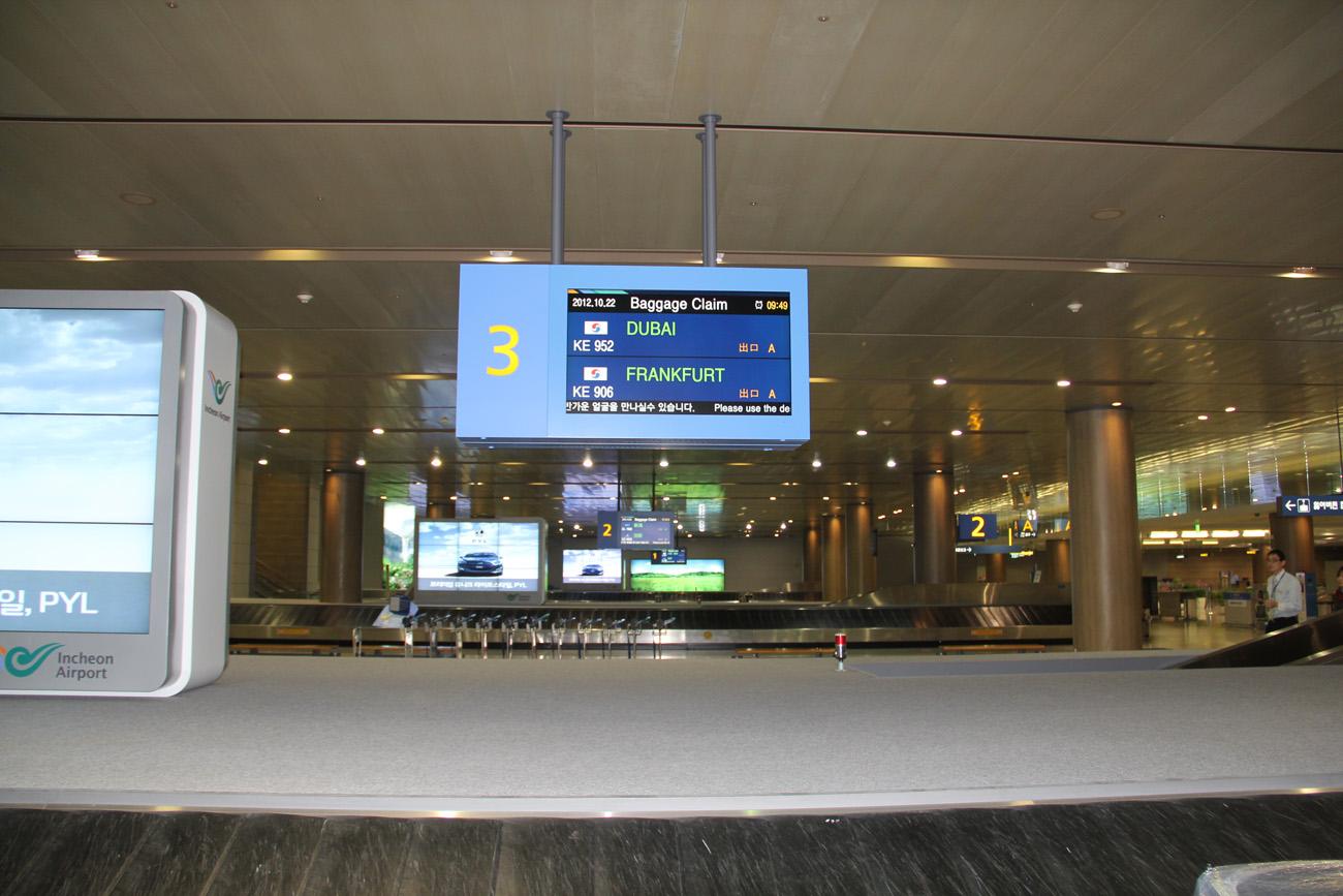 Зал выдачи багажа в аэропорту Сеул Инчхон