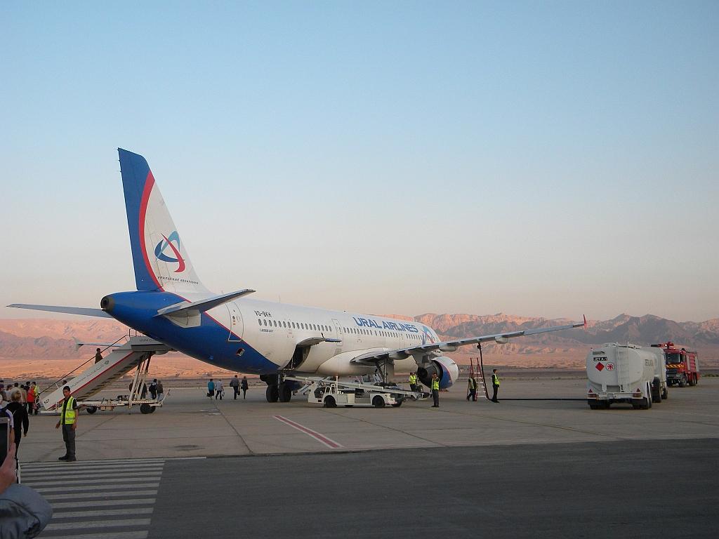 Чартер в Иорданию. Акаба - Домодедово, Уральские авиалинии, А-321.