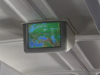 Entertainment system of Boeing 757-200