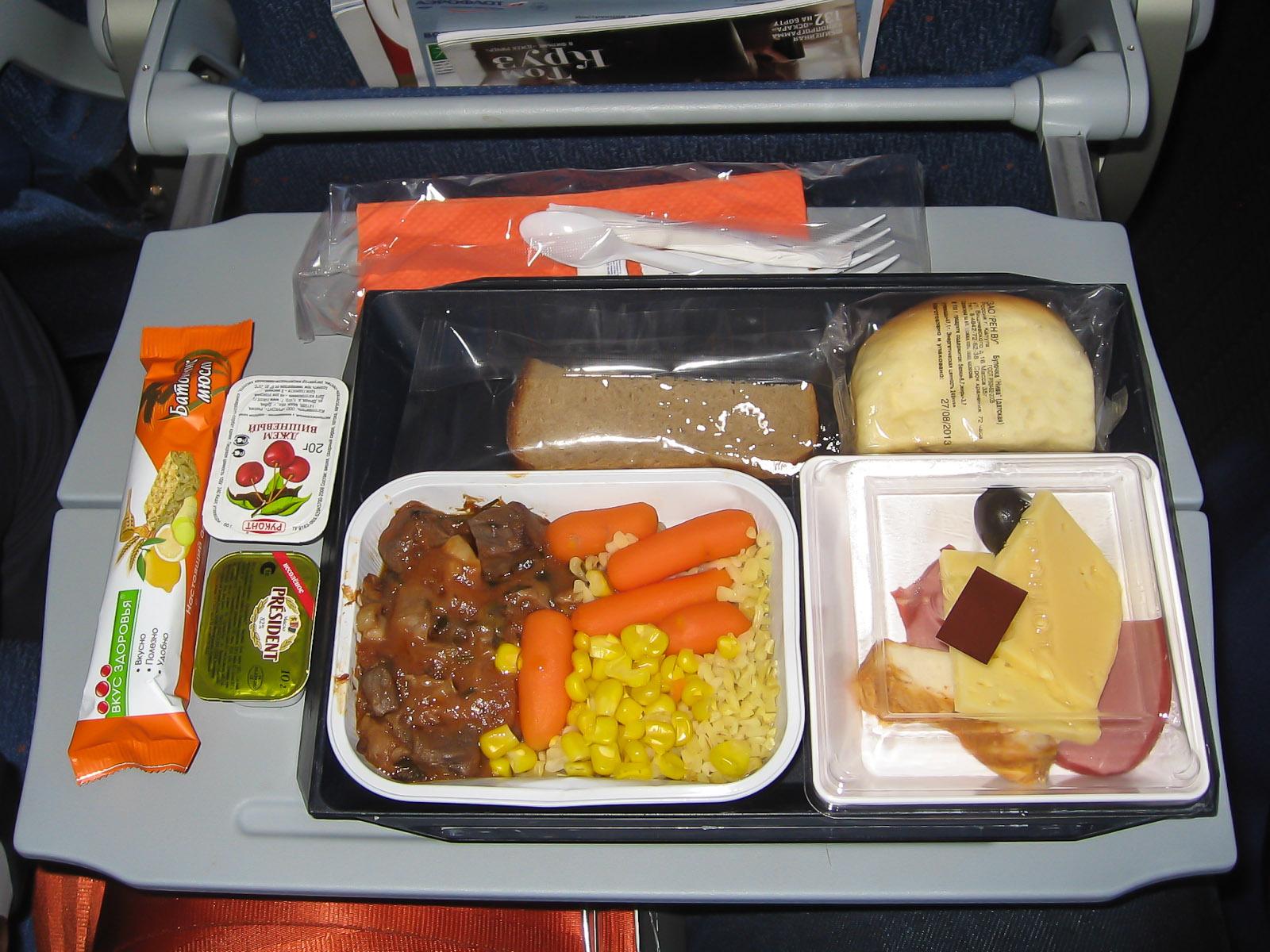 Питание на рейсе Красноярск-Москва Аэрофлота
