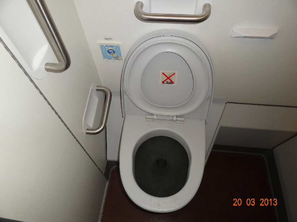 Туалет  самолета Airbus A330-300 Аэрофлота