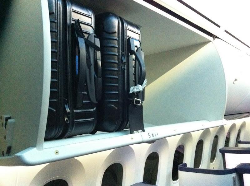 Багажные полки в самолете Боинг-787 авиакомпании ANA