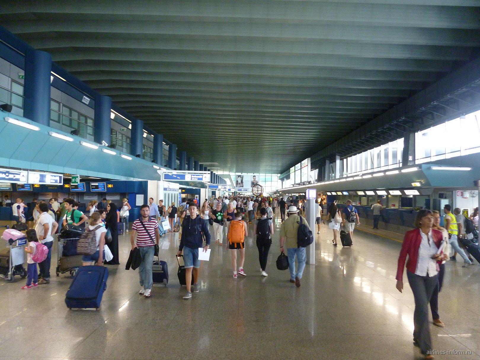 В терминале 3 аэропорта Рим Фьюмичино