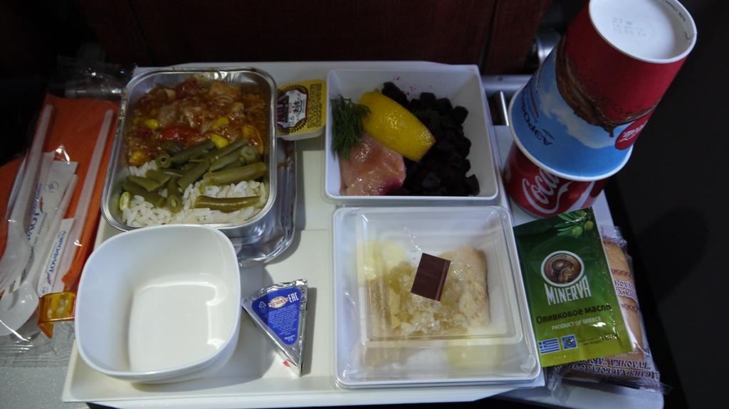 Бортпитание на рейсе Аэрофлота Москва-Гавана