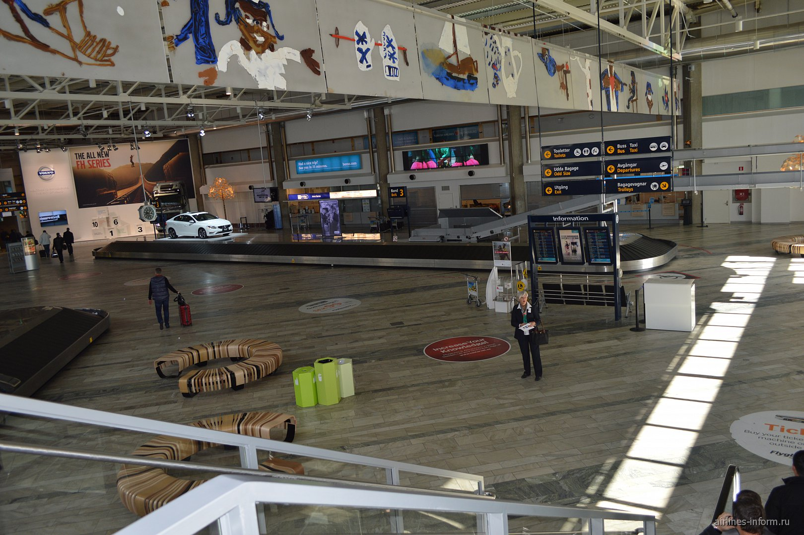 Зал выдачи багажа в аэропорту Гётеборг Ландветтер