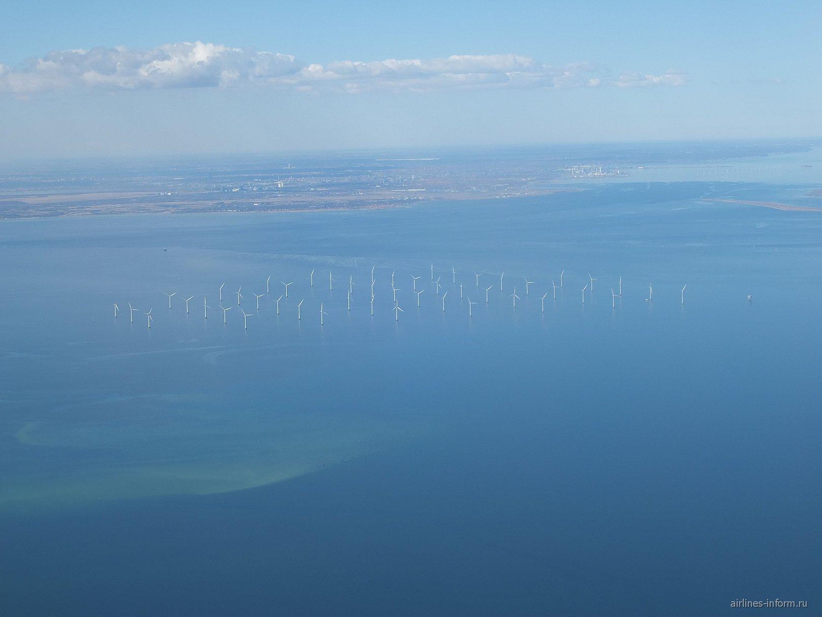 Ветряная электростанция в Эресуннском проливе Балтийском море