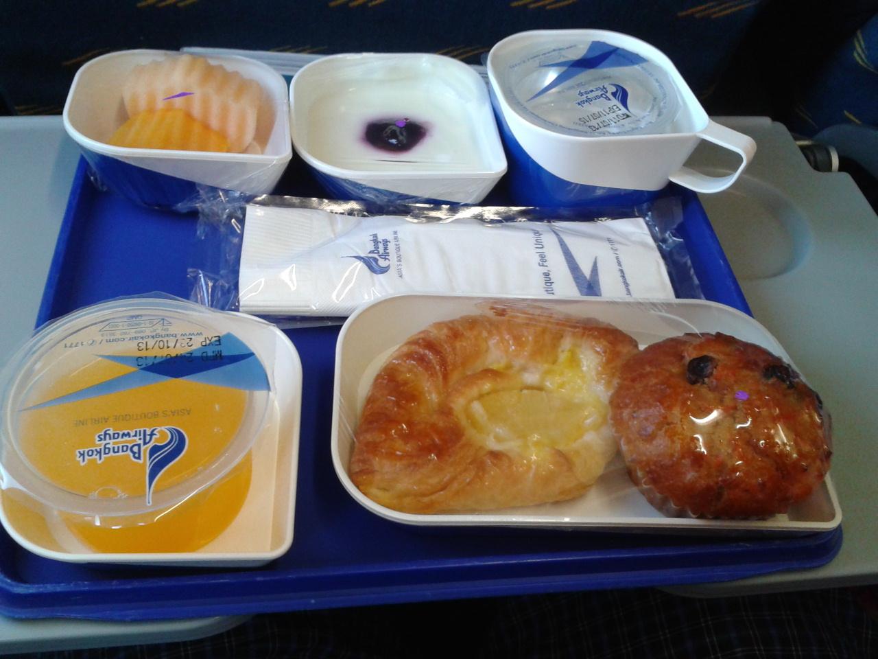 Питание на рейсе авиакомпании Bangkok Airways Бангкок-Самуи