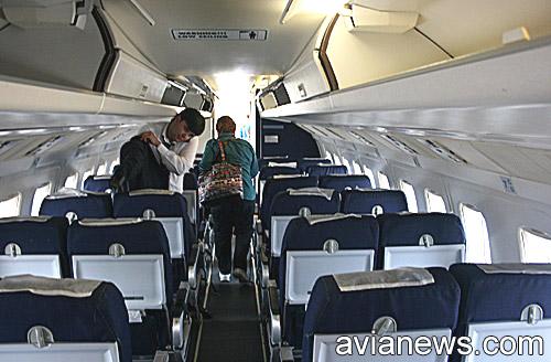 Passenger cabin of Fokker 50