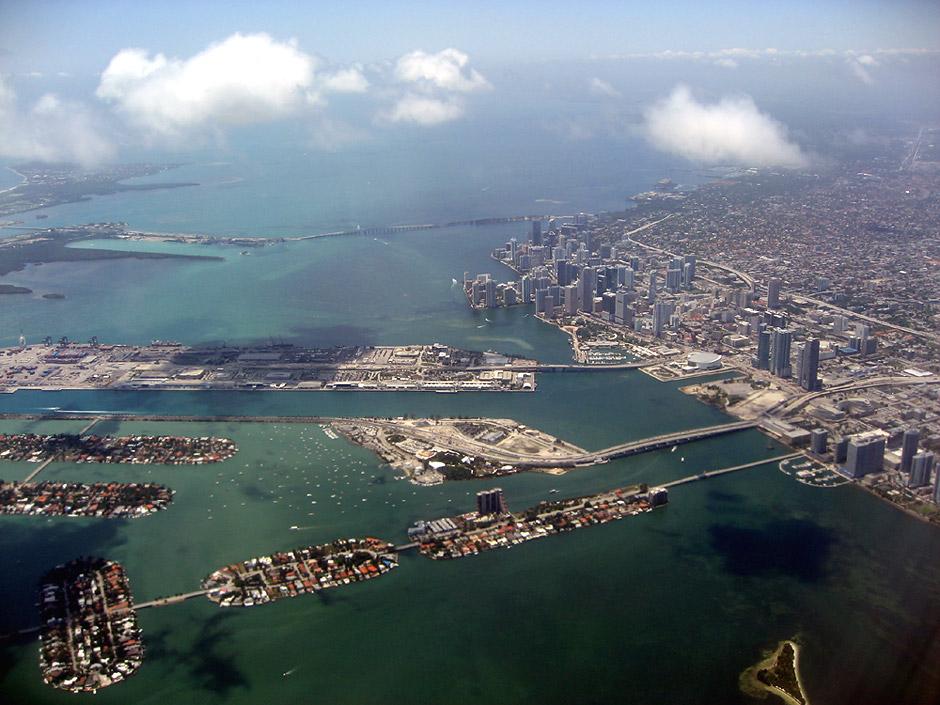 Вид на город Майами