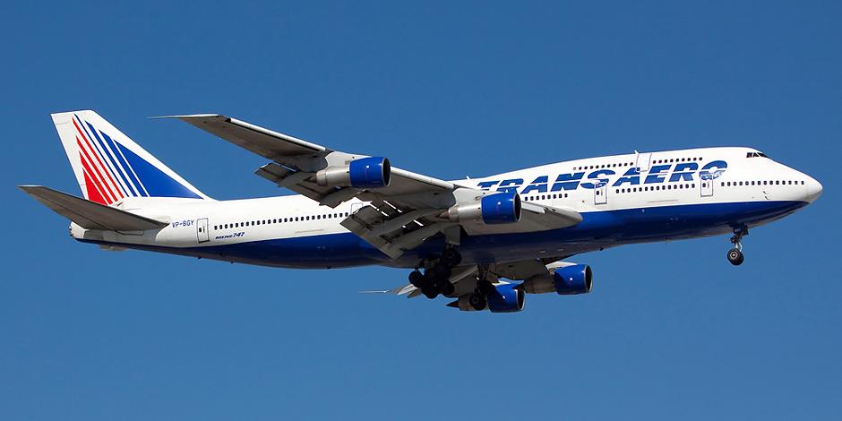 Самолет Boeing 747-300 VP-BGY авиакомпании Трансаэро