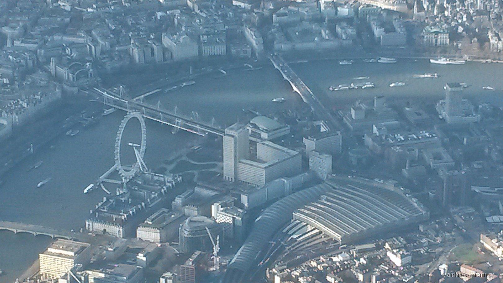 Вид на Лондон из самолета