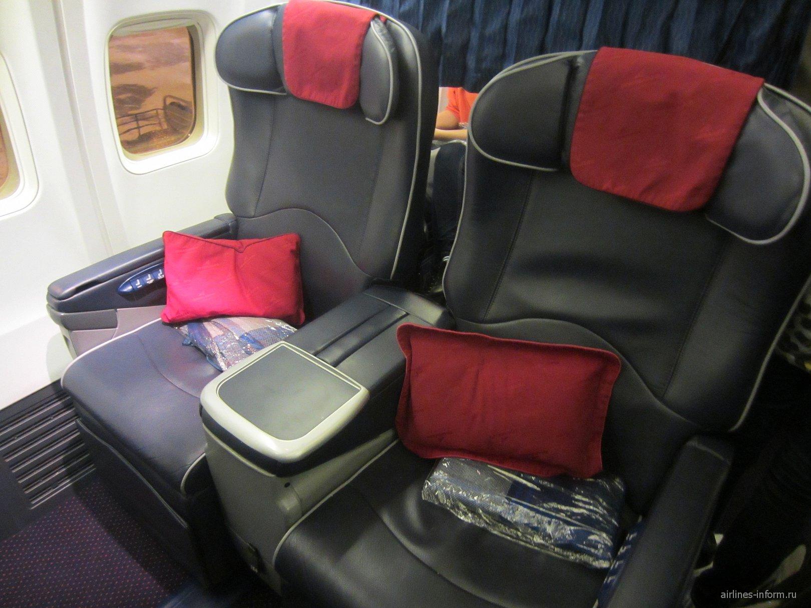 """Места бизнес-класса в самолете Боинг-737-800 авиакомпании """"Трансаэро"""""""