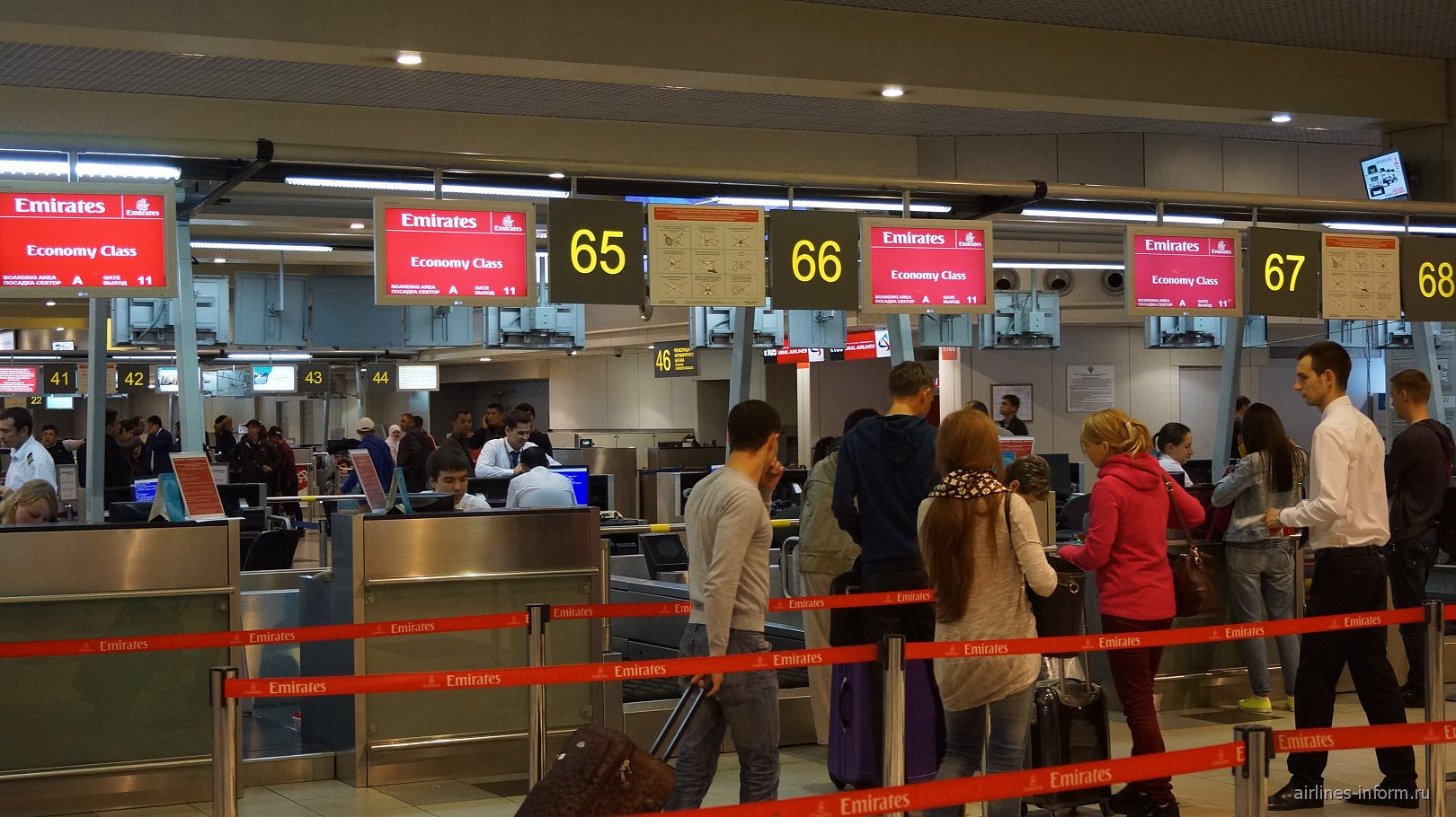 Регистрация на рейсы авиакомпании Emirates в аэропорту Домодедово