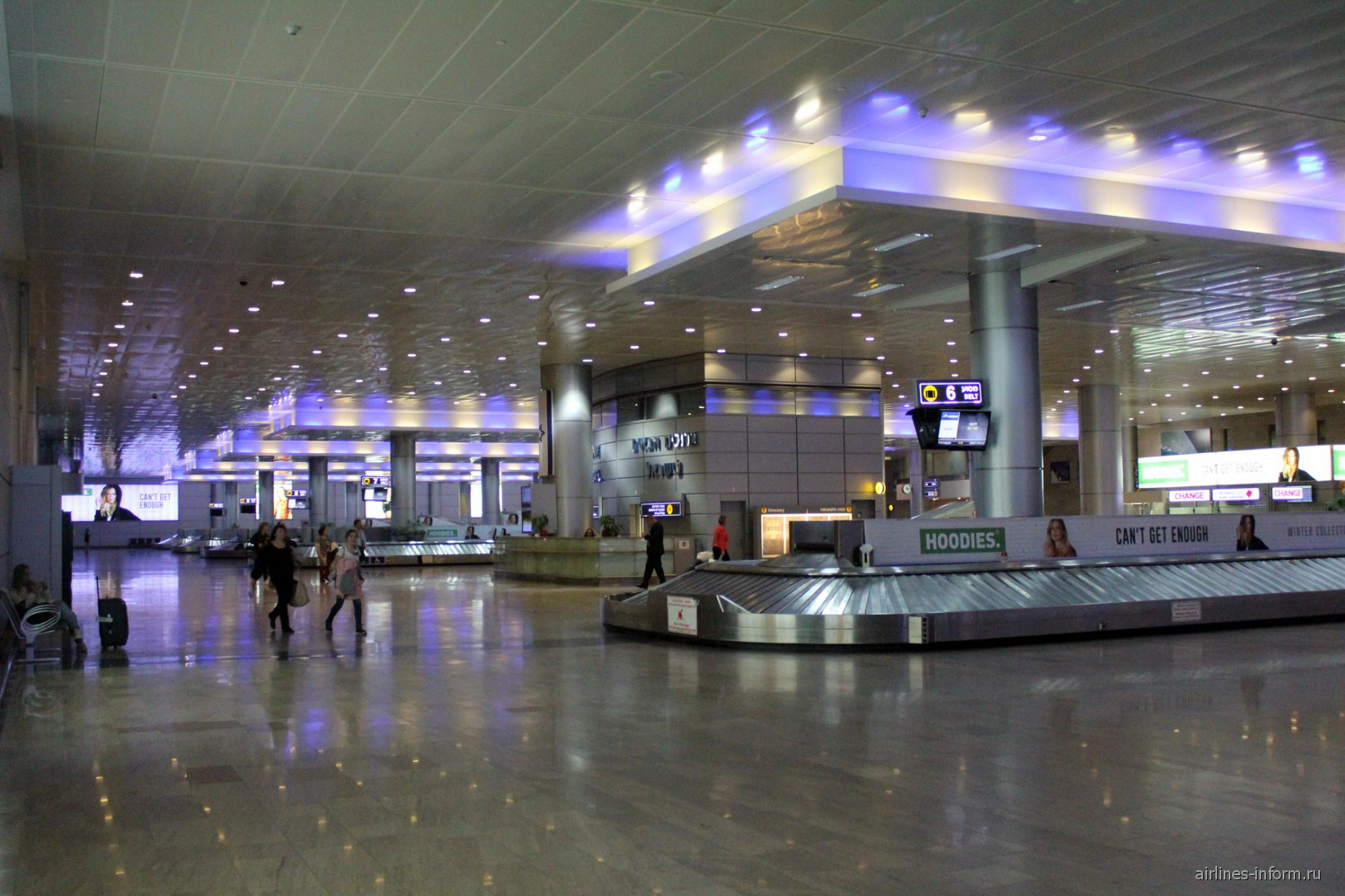 Зал выдачи багажа в аэропорту Тель-Авив Бен-Гурион