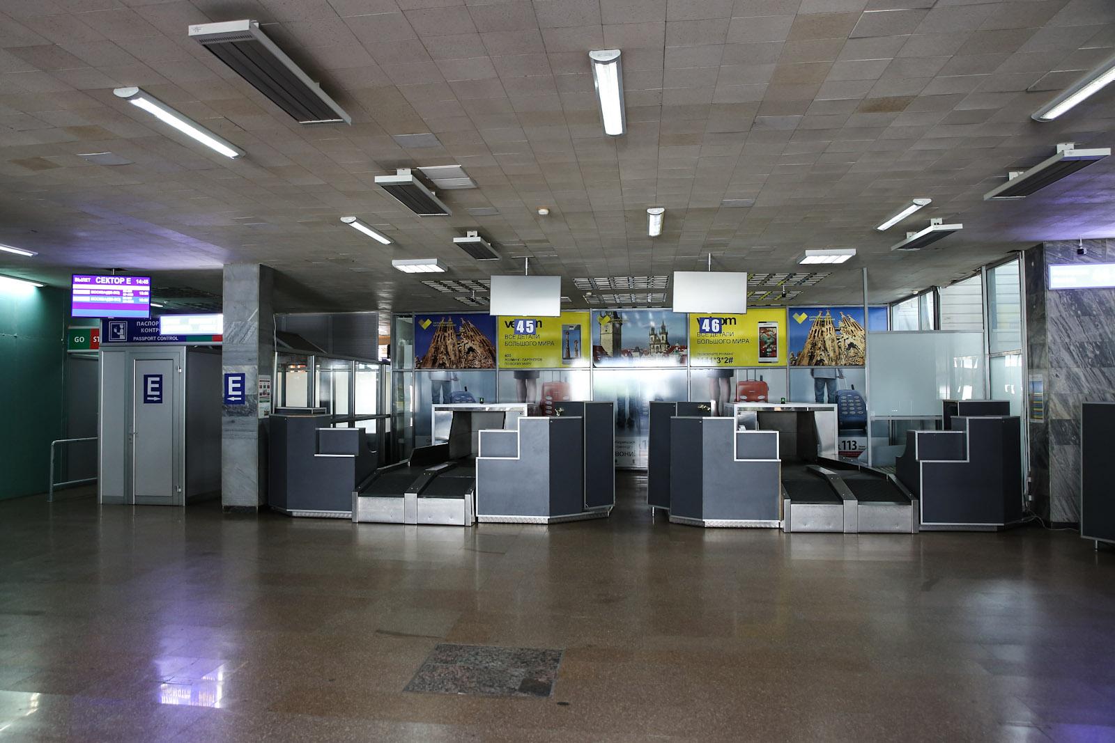 Стойки регистрации в правом крыле аэровокзала в аэропорту Минска