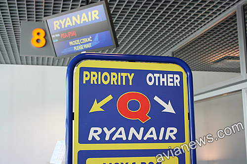 Priority boarding of Ryanair