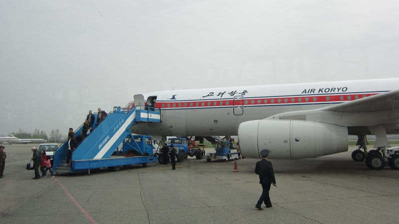 Ту-204 Air Koryo в аэропорту Пхеньян