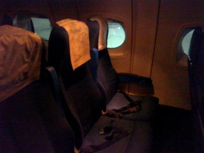 Салон самолета Як-42 авиакомпании Газпромавиа