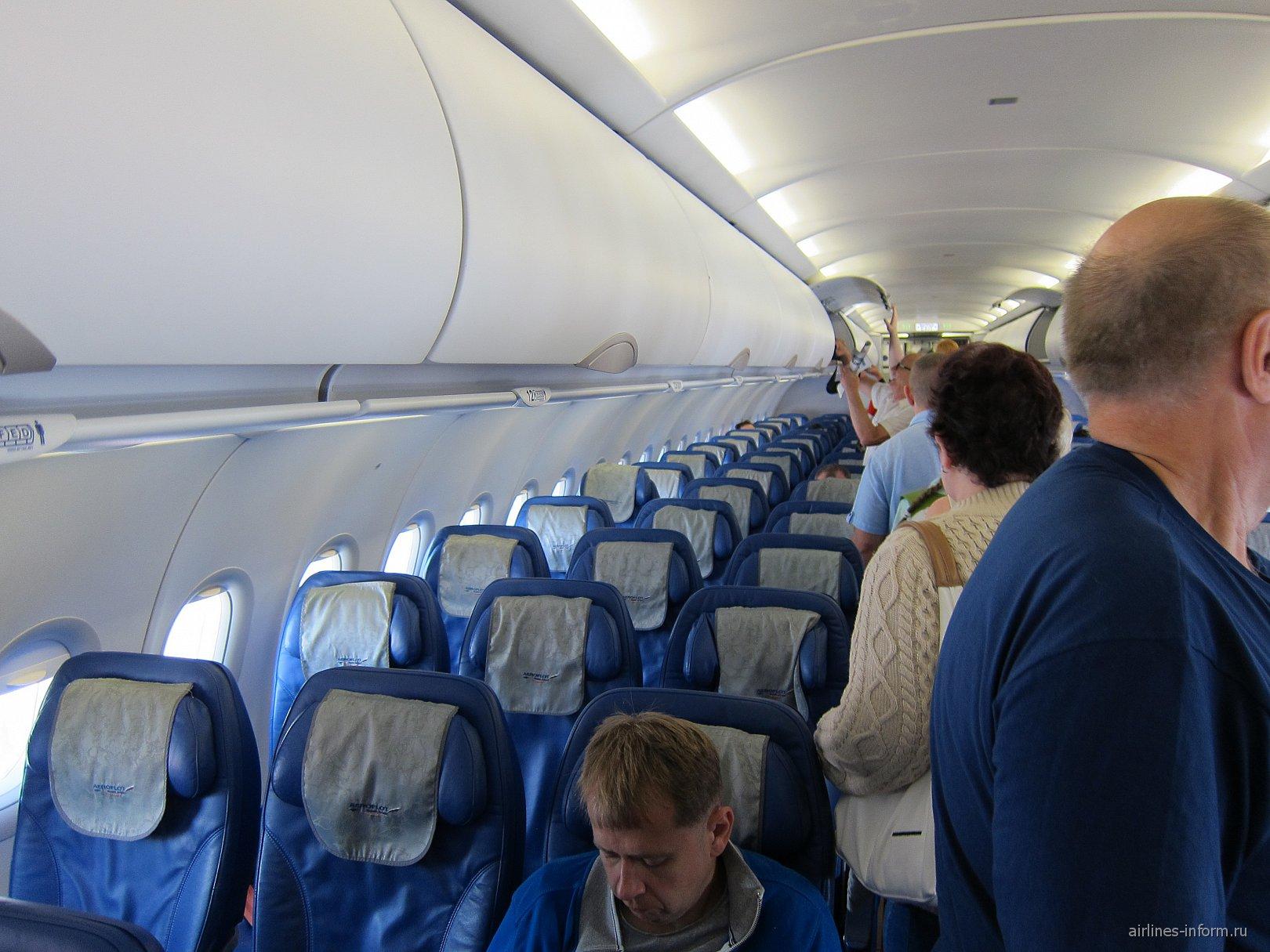 Салон самолета Airbus A320 Аэрофлота