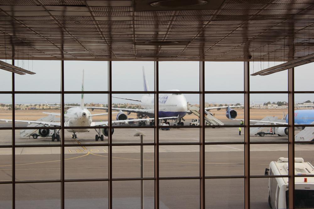 Боинг-747 Трансаэро в аэропорту Шарм-Эль-Шейх