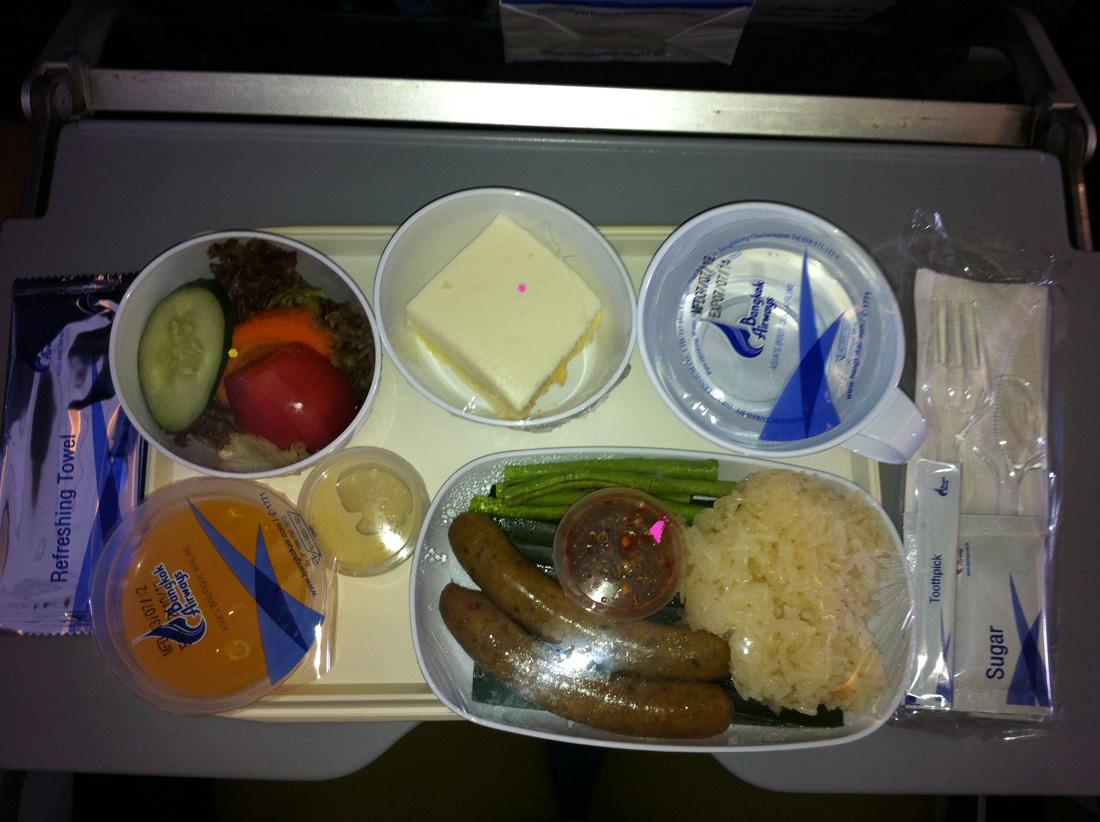 Питание на рейсе Бангкок-Самуи авиакомпании Bangkok Airways