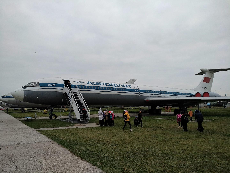 Самолет Ил-62 в Государственном музее авиации Украины