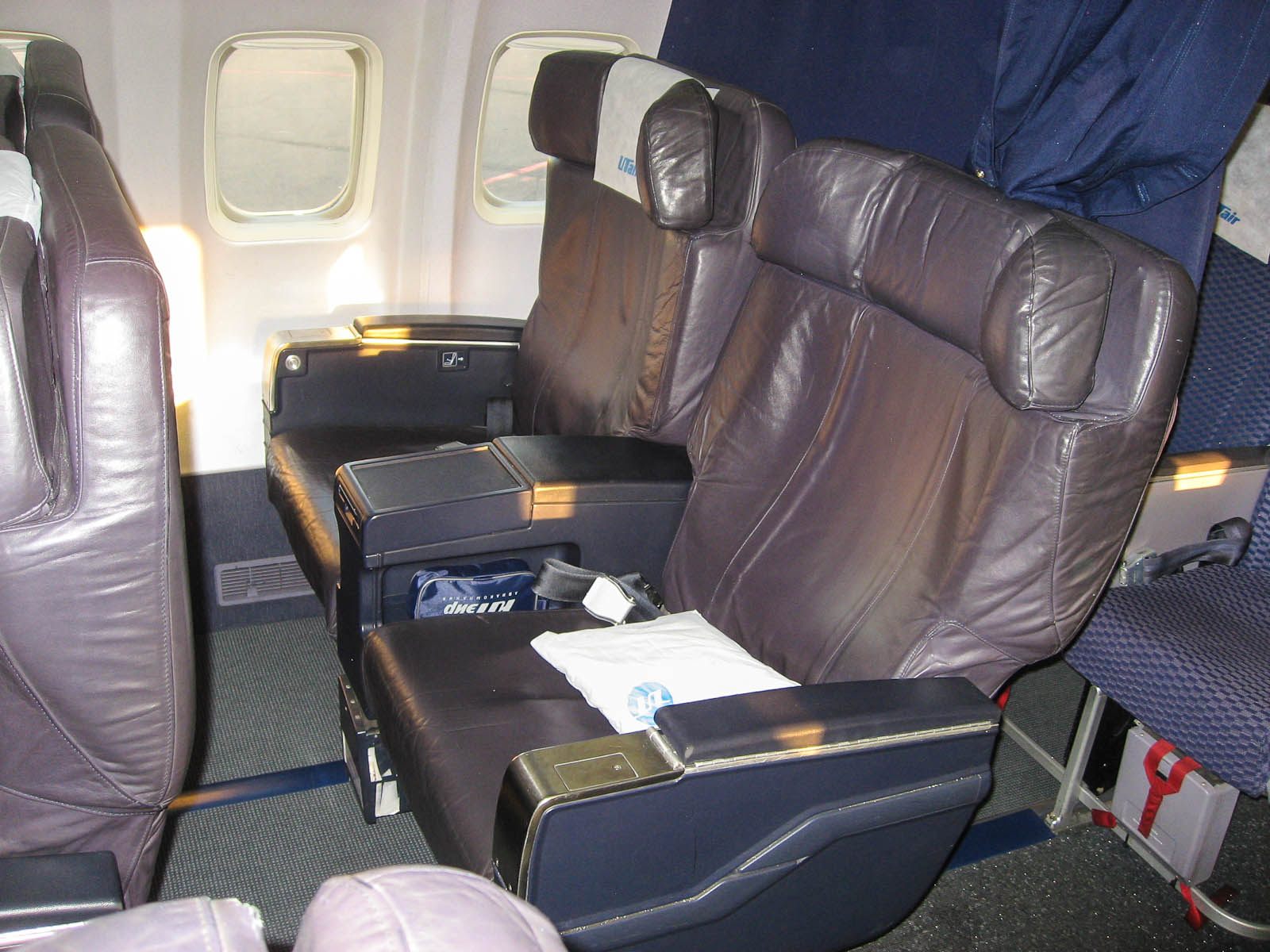 Бизнес-класс в самолете Боинг-737-500 авиакомпании ЮТэйр