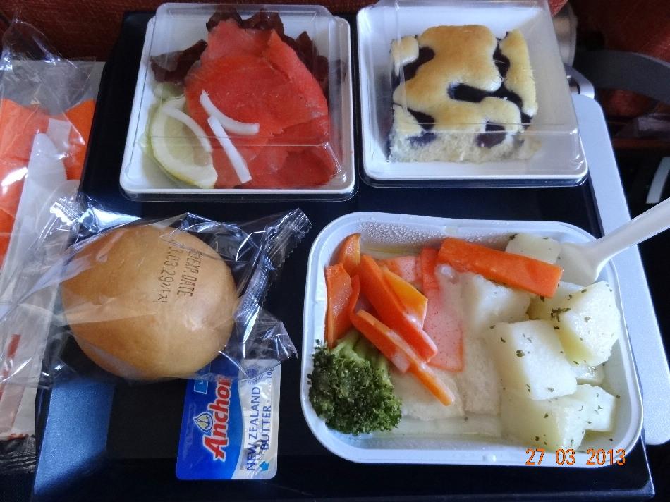 Питание на рейсе Сеул-Москва Аэрофлота